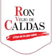 ron viejo de caldas logo flap red white image